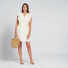 Sweet Broderie Dress  BISQUE  hi-res