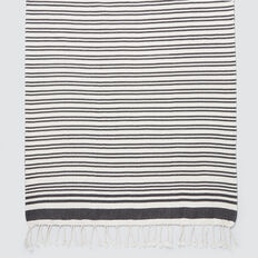 Beach Towel  BLACK STRIPE  hi-res