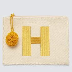 Initial Pom Pom Clutch  H AMBER YELLOW  hi-res