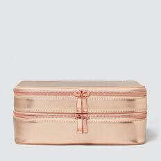 Travel Makeup Case  ROSE GOLD  hi-res