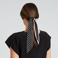 Stripe Spot Skinny Scarf  BLACK/CLOUD CREAM  hi-res