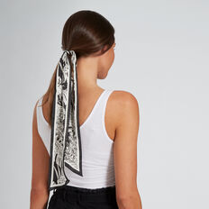 Palm Leaf Scarf  BLACK/WHITE  hi-res