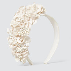 Floral Crown  CREAM  hi-res