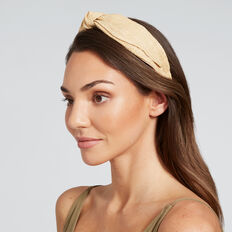 Straw Knot Headband  NATURAL  hi-res