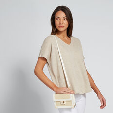 Frankie Belt Bag  WHITE/NATURAL  hi-res