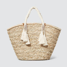 Harriet Straw Tote  NATURAL  hi-res