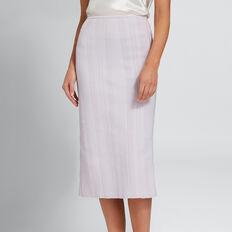 Crepe Pencil Skirt  LAVENDER  hi-res