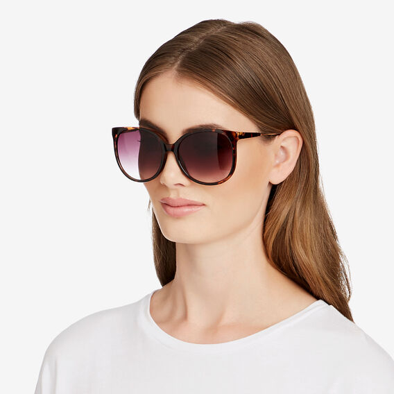 Mia Lady Round Sunglasses  TORT  hi-res