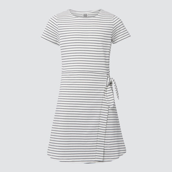 Mock Wrap Dress  WHITE/MIDNIGHT  hi-res