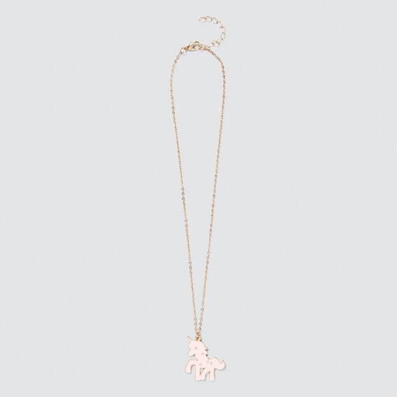 Pink/Gold Unicorn Necklet  PINK/GOLD  hi-res