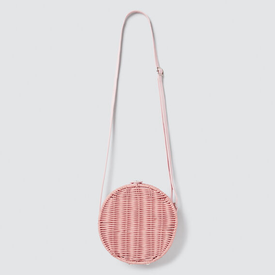 Wicker Circle Bag  PINK  hi-res