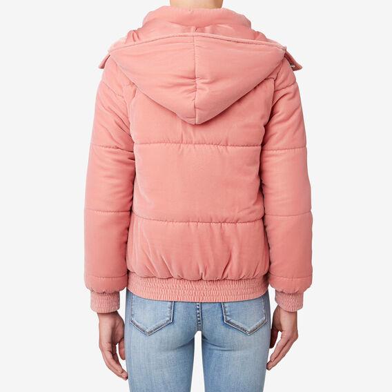 Velour Puffa Jacket  SOFT BLUSH  hi-res