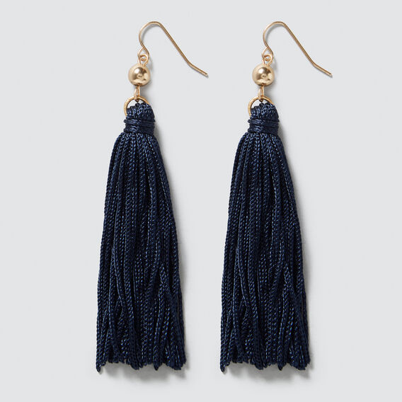 Tassel Earrings  NAVY/GOLD  hi-res