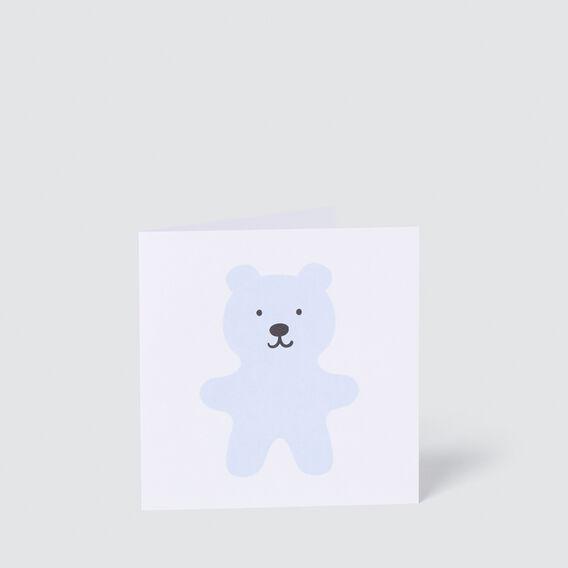 Blue Teddy Card  MULTI  hi-res