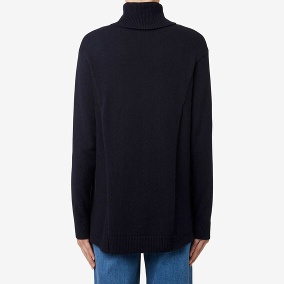 Curve Hem Comfy Sweater  DEEP NAVY  hi-res