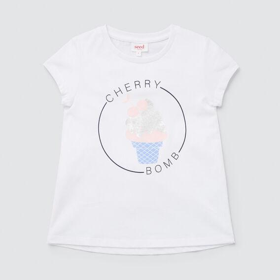 Cherry Bomb Tee  WHITE  hi-res