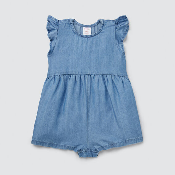 Chambray Playsuit  LIGHT BLUE WASH  hi-res