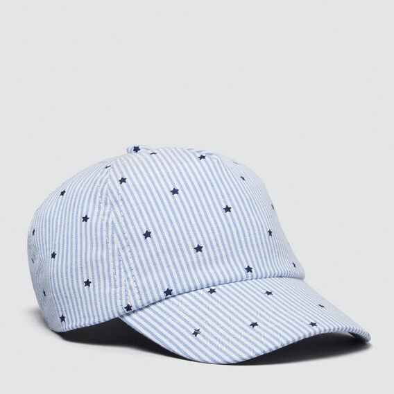 Star Print Cap  BLUE  hi-res
