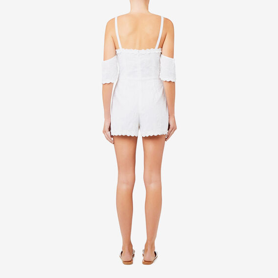 Embroidery Detail Jumpsuit  BRIGHT WHITE  hi-res