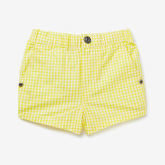 Mini Gingham Short  CITRUS YELLOW  hi-res