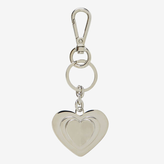 Heart Key Ring  SILVER  hi-res