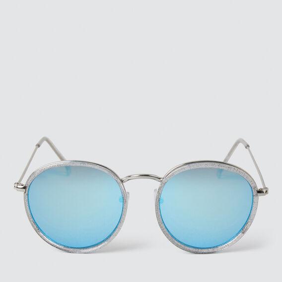 Framed Round Sunglasses  SILVER  hi-res