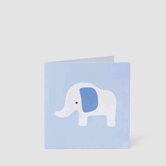 Small Blue Elephant Card  MULTI  hi-res
