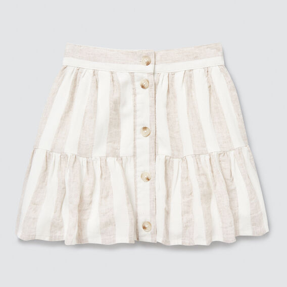 Stripe Skirt  WHITE/NATURAL  hi-res