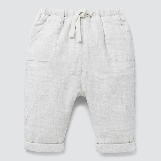 Woven Pant  GREY MELANGE  hi-res
