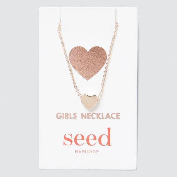 Rose Gold Heart Necklace  ROSE GOLD  hi-res