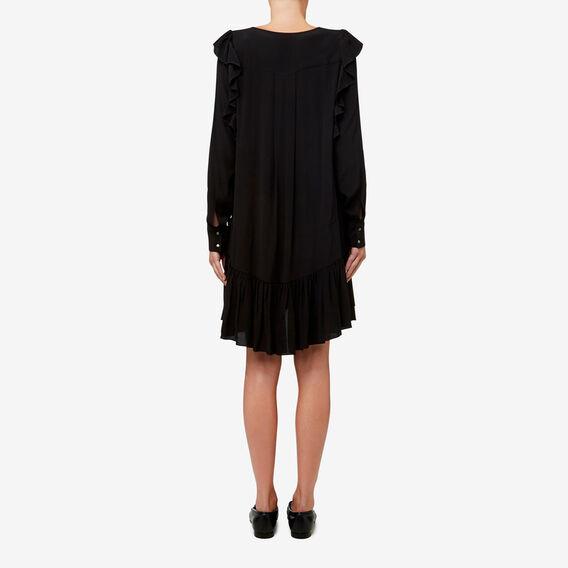 Frill Detail Dress  BLACK  hi-res