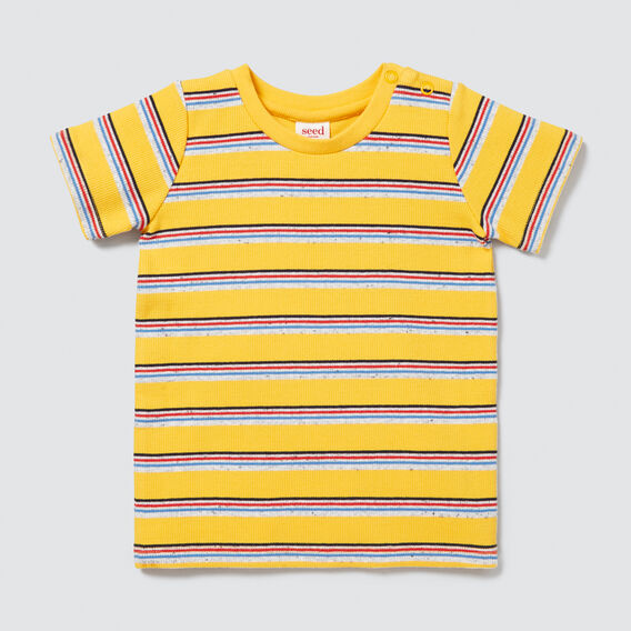 Rib Stripe Tee  SUNSHINE YELLOW  hi-res