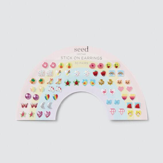Rainbow Stick-On Earrings  MULTI  hi-res