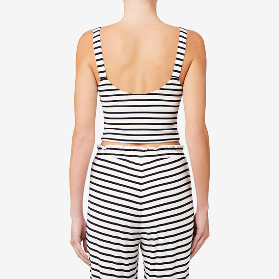 50s Stripe Crop  BLACK/WHITE STRIPE  hi-res