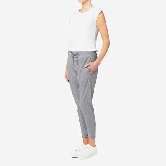 Ankle Harem Pant  BLACK/WHITE STRIPE  hi-res