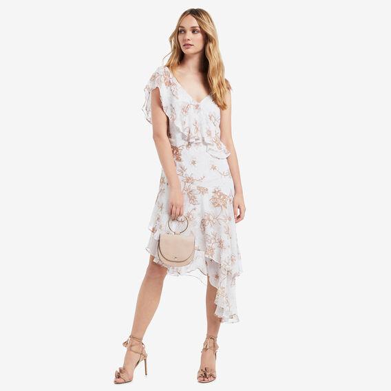 Asymmetrical Frill Dress  FLORAL  hi-res