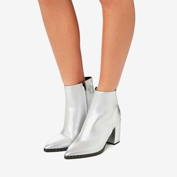 Athena Studded Heel Boot  SILVER  hi-res