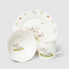 Bashful Bunny Bowl Cup Plate Set  MULTI  hi-res