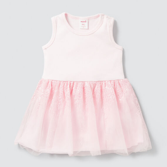 Rib Tutu Dress  ICE PINK  hi-res