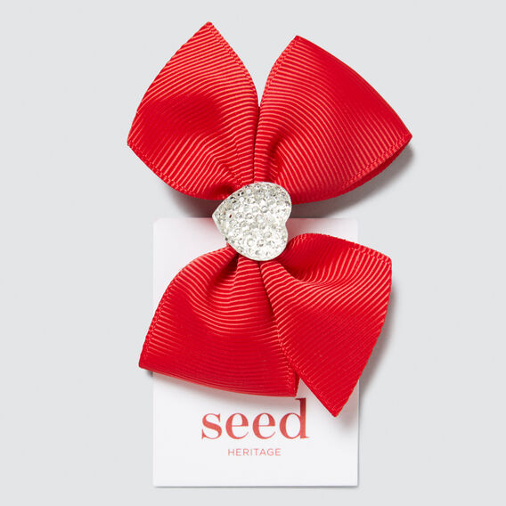 Heart Jewel Bows  APPLE RED  hi-res