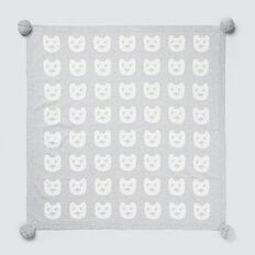 Bears Jacquard Blanket  BIRCH MARLE  hi-res