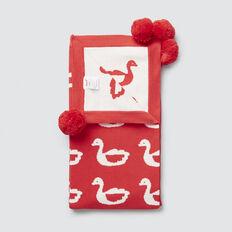 Swans Jacquard Blanket  TANGO RED  hi-res