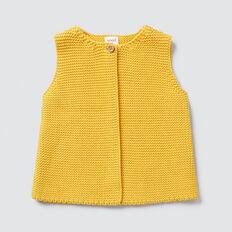 Textured Knit Vest  SAFFRON  hi-res