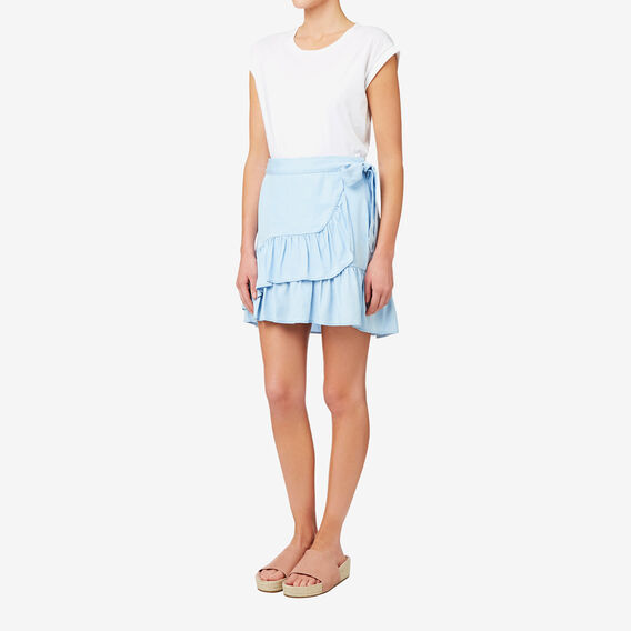 Tencel Frill Skirt  SPRING BLUE  hi-res