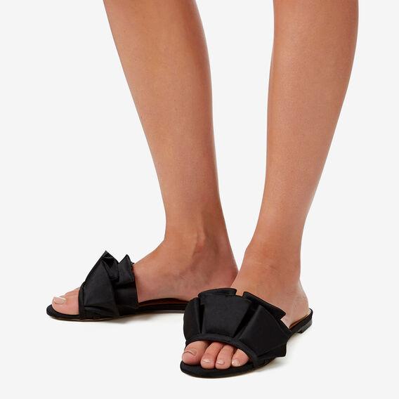 Lilly Frill Slide  BLACK  hi-res