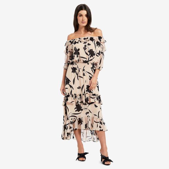 Tiered Frill Dress  FLORAL  hi-res