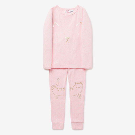 Kitty Knee PJ  ICE PINK MARLE  hi-res