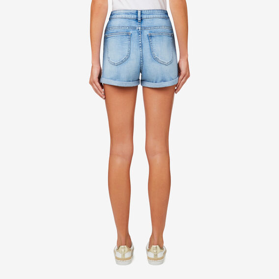 High Waist Denim Short  LIGHT DENIM  hi-res