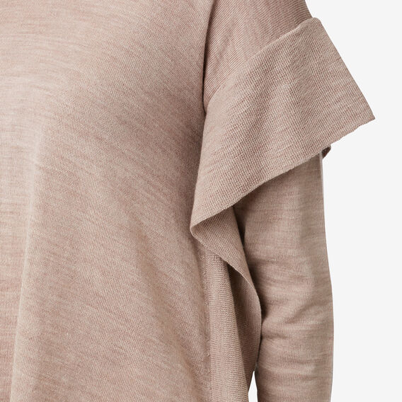 Frill V-Neck Sweater  COCOA MARLE  hi-res