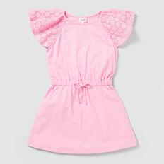 Broderie Jersey Dress  PINK FIZZ  hi-res